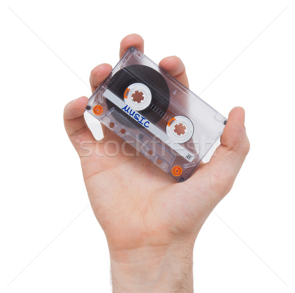 Vintage audio cassette tape, isolated on white background Stock photo © michaklootwijk
