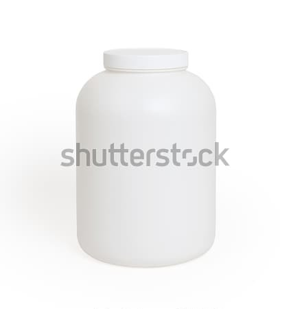 Can of protein or gainer powder isolated Stock photo © michaklootwijk