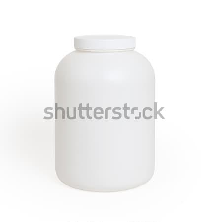 Pueden proteína polvo aislado blanco alimentos Foto stock © michaklootwijk
