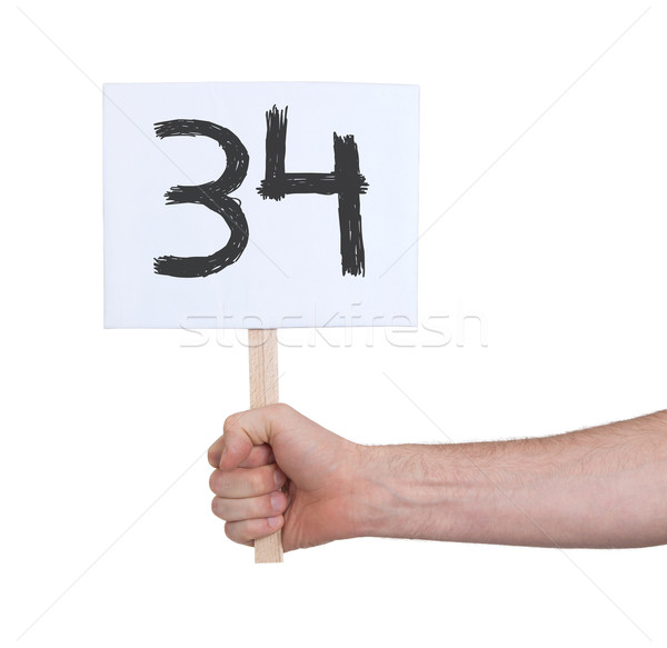 Sign with a number, 34 Stock photo © michaklootwijk
