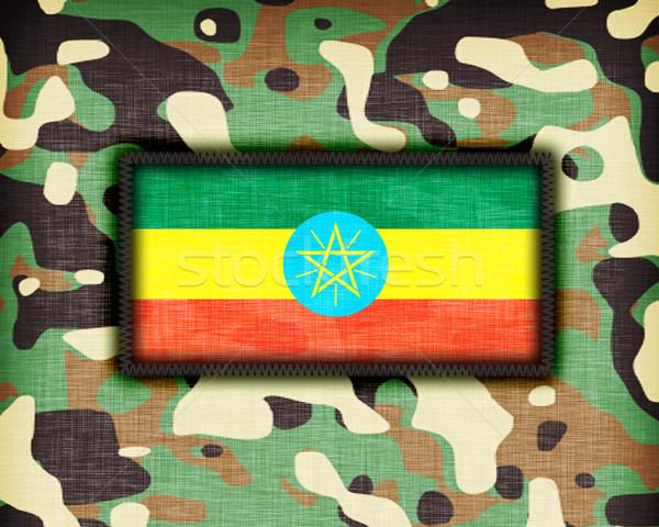 álca egyenruha Etiópia zászló textúra absztrakt Stock fotó © michaklootwijk