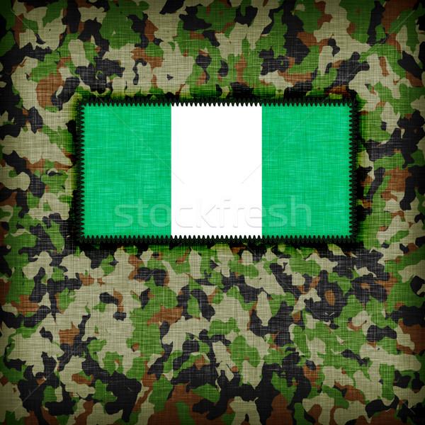 üniforma Nijerya bayrak doku soyut Stok fotoğraf © michaklootwijk