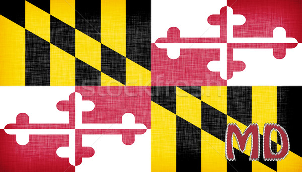 Linen flag of the US state of Maryland Stock photo © michaklootwijk