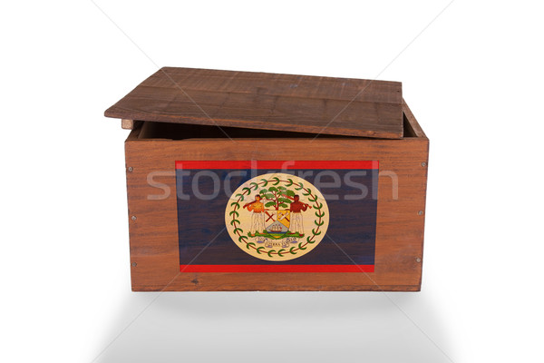 Wooden crate isolated on a white background Stock photo © michaklootwijk