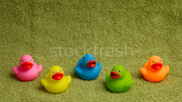 Rubber ducks isolated, with room for text Stock photo © michaklootwijk