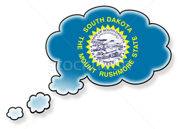 Zászló felhő izolált fehér Dél-Dakota művészet Stock fotó © michaklootwijk