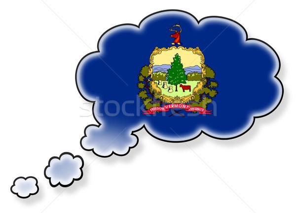 Bayrak bulut yalıtılmış beyaz Vermont sanat Stok fotoğraf © michaklootwijk