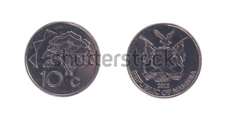 Old 10 dollarcent coin, Namibian currency Stock photo © michaklootwijk
