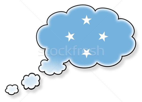 Bayrak bulut yalıtılmış beyaz Mikronezya sanat Stok fotoğraf © michaklootwijk