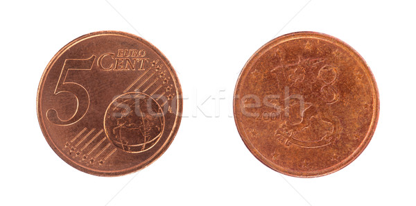 5 euro cent coin Stock photo © michaklootwijk