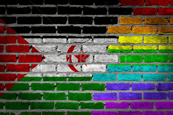 Dark brick wall - LGBT rights - Western Sahara Stock photo © michaklootwijk