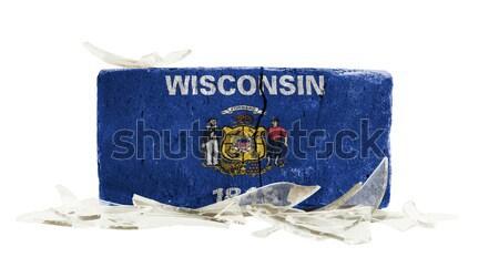 Pavillon brûlant Wisconsin guerre crise feu Photo stock © michaklootwijk