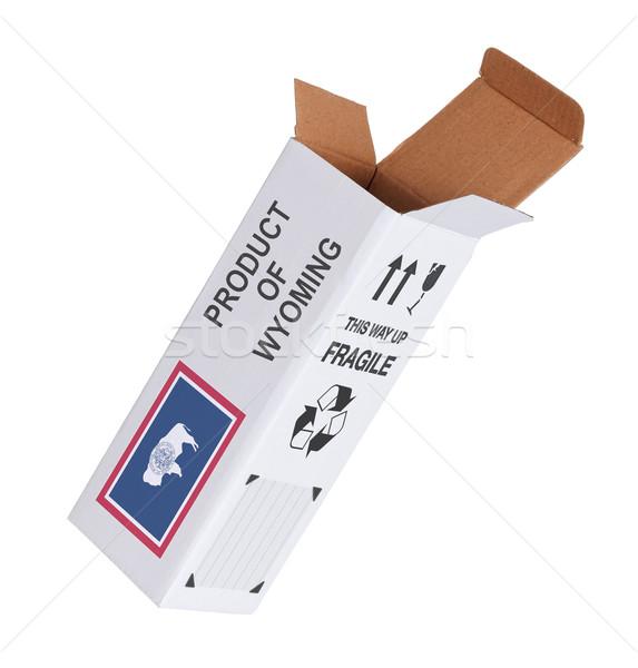 Exportar producto Wyoming papel cuadro Foto stock © michaklootwijk