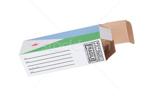 Eksport produktu Dżibuti papieru polu Zdjęcia stock © michaklootwijk
