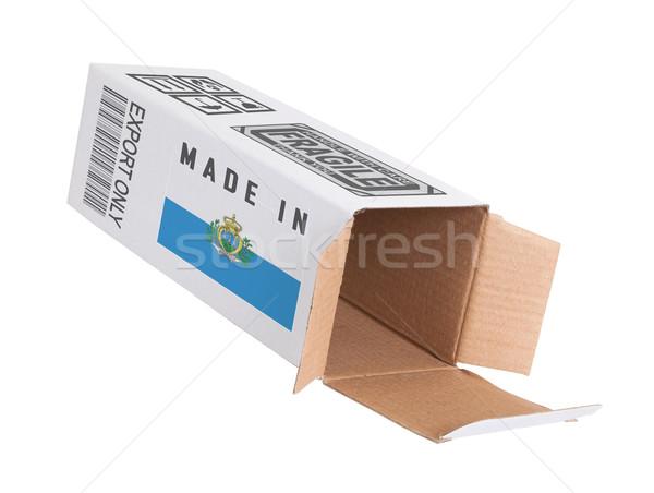エクスポート 製品 サン·マリノ 紙 ボックス ストックフォト © michaklootwijk
