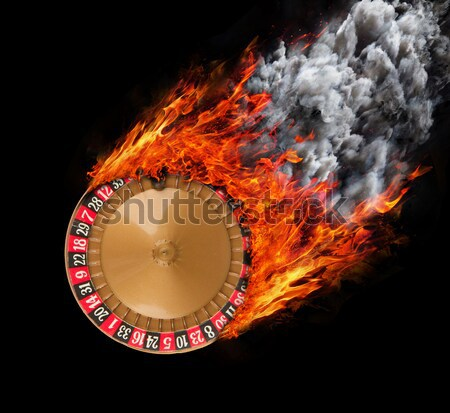 Flag with a trail of fire and smoke - Kentucky Stock photo © michaklootwijk