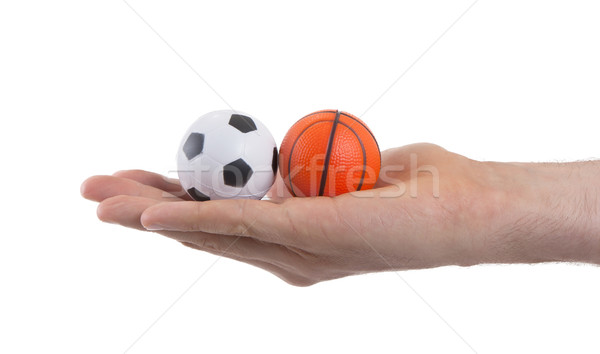 Small Toy Balls : Small toy balls isolated stock photo micha klootwijk
