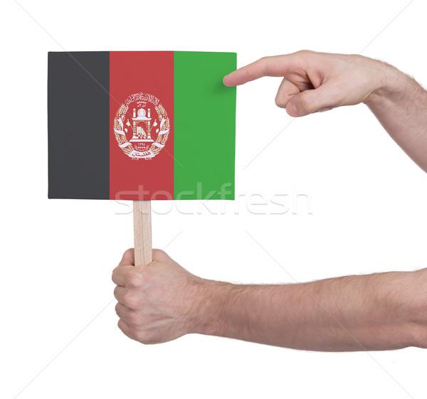 El küçük kart bayrak Afganistan Stok fotoğraf © michaklootwijk