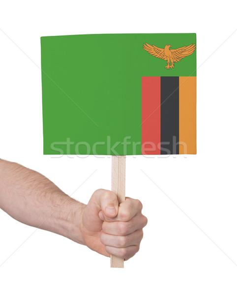 El küçük kart bayrak Zambiya Stok fotoğraf © michaklootwijk