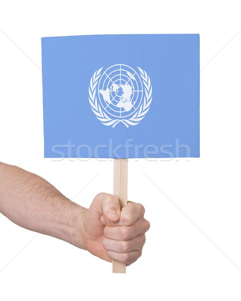 手 小 カード フラグ 国連 ストックフォト © michaklootwijk
