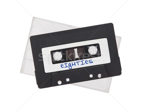 ヴィンテージ オーディオ カセット テープ 孤立した 白 ストックフォト © michaklootwijk