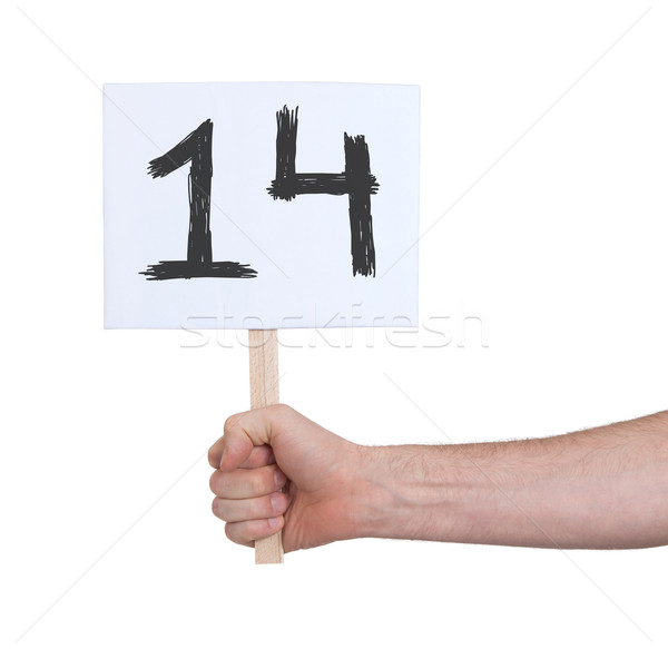 Sign with a number, 14 Stock photo © michaklootwijk