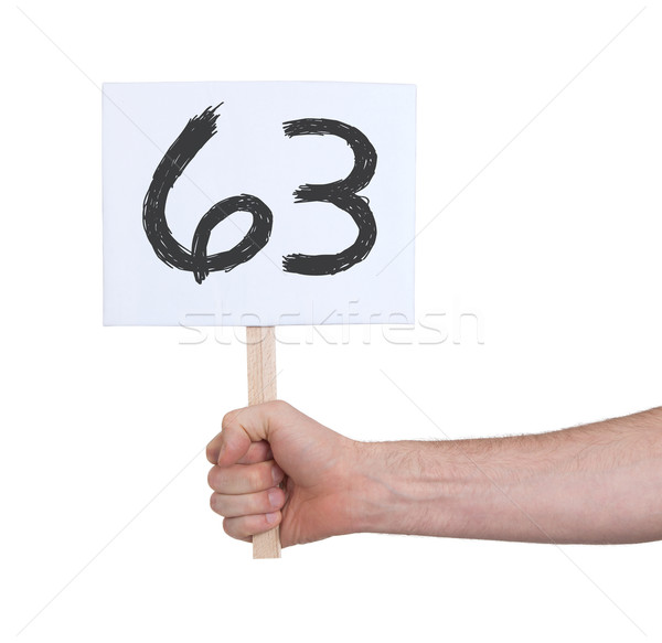 Sign with a number, 63 Stock photo © michaklootwijk