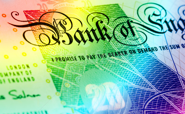 Pound currency background - 20 Pounds - Rainbow Stock photo © michaklootwijk