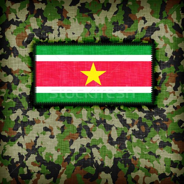 равномерный Суринам флаг текстуры аннотация Сток-фото © michaklootwijk