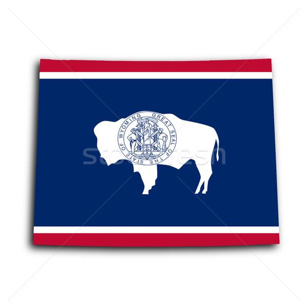 Map of Wyoming Stock photo © michaklootwijk