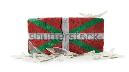 кирпичных битое стекло насилия флаг Флорида стены Сток-фото © michaklootwijk