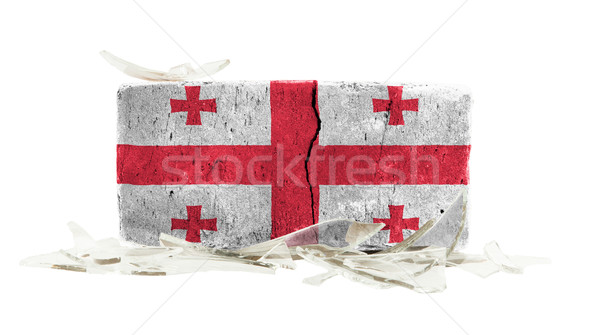 кирпичных битое стекло насилия флаг Грузия стены Сток-фото © michaklootwijk
