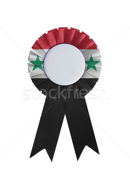 Prêmio fita isolado branco Síria fundo Foto stock © michaklootwijk