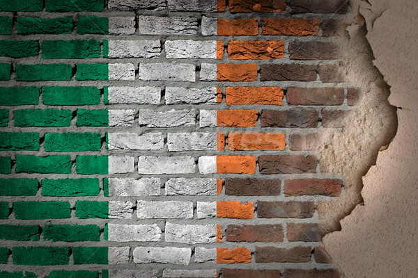 Ciemne murem gipsu Irlandia tekstury banderą Zdjęcia stock © michaklootwijk