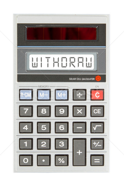 Old calculator - withdraw Stock photo © michaklootwijk