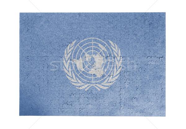 ジグソーパズル 1000年 ピース 国連 フラグ ストックフォト © michaklootwijk