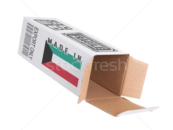экспорт продукт Кувейт бумаги окна Сток-фото © michaklootwijk