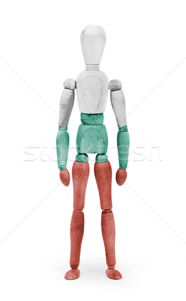 Wood figure mannequin with flag bodypaint - Bulgaria Stock photo © michaklootwijk
