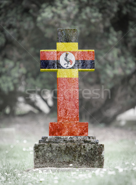 Gravestone in the cemetery - Uganda Stock photo © michaklootwijk