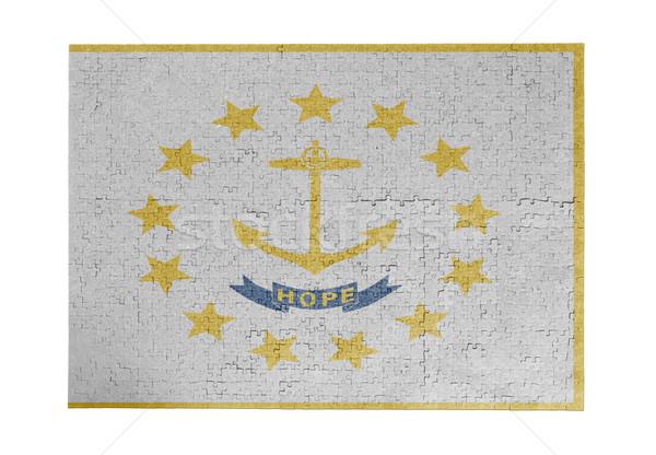 Büyük 1000 parçalar Rhode Island bayrak Stok fotoğraf © michaklootwijk