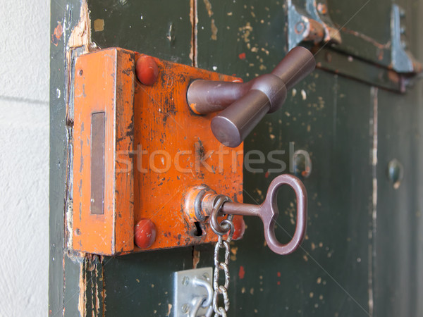 Old lock in a prison Stock photo © michaklootwijk
