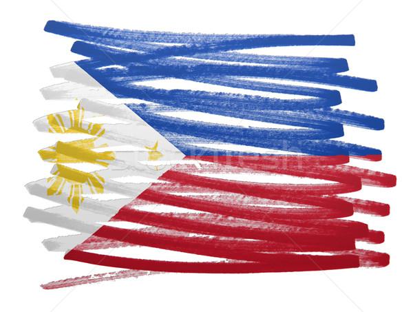 Flag illustration - Philippines Stock photo © michaklootwijk