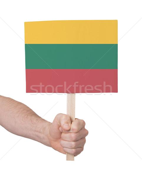 手 小 カード フラグ リトアニア ストックフォト © michaklootwijk