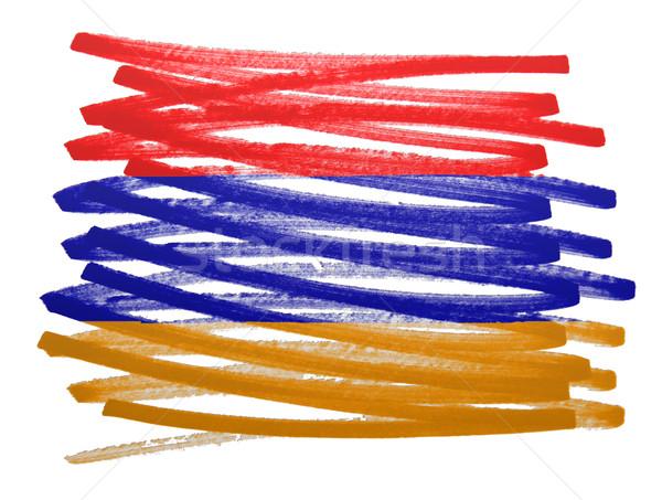 Bandeira ilustração Armênia caneta negócio pintar Foto stock © michaklootwijk