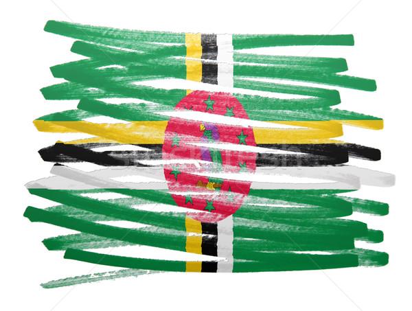 Vlag illustratie Dominica pen business verf Stockfoto © michaklootwijk