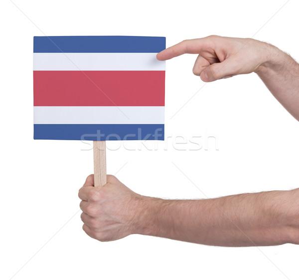Mano pequeño tarjeta bandera Costa Rica Foto stock © michaklootwijk