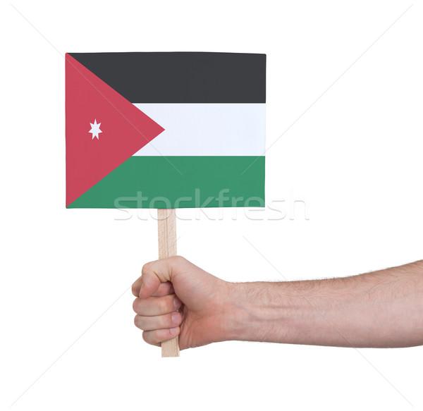 Strony mały karty banderą Jordania Zdjęcia stock © michaklootwijk
