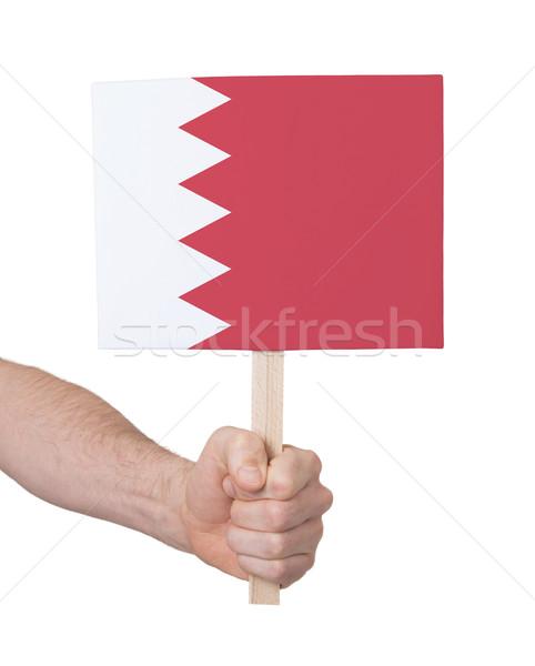 Mão pequeno cartão bandeira Bahrein Foto stock © michaklootwijk