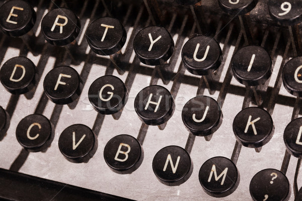 Old typewriter keyboard Stock photo © michaklootwijk