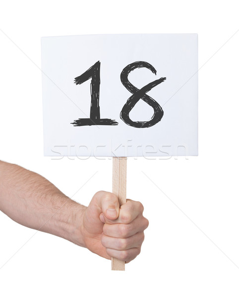 Sign with a number, 18 Stock photo © michaklootwijk